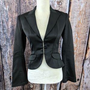 Marciano Black Silky Classic Blazer Long Sleeve 2